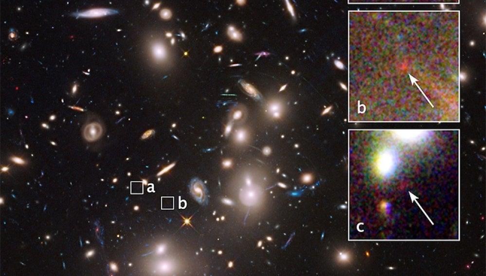 Primera imagen de la galaxia captada por Hubble