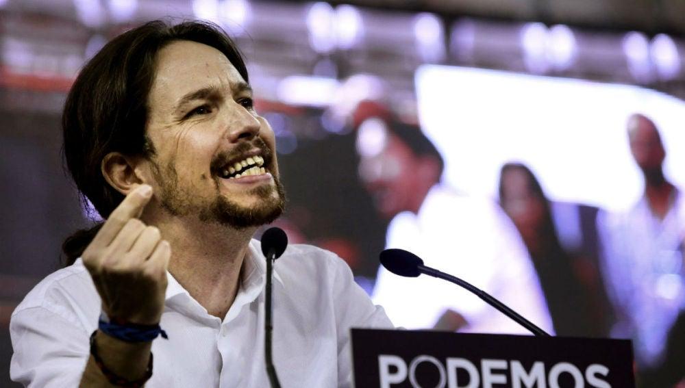 Pablo Iglesias en la Asamblea Ciudadana de Podemos