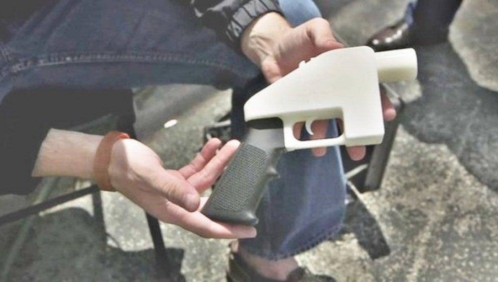 Pistola creada con impresión 3D