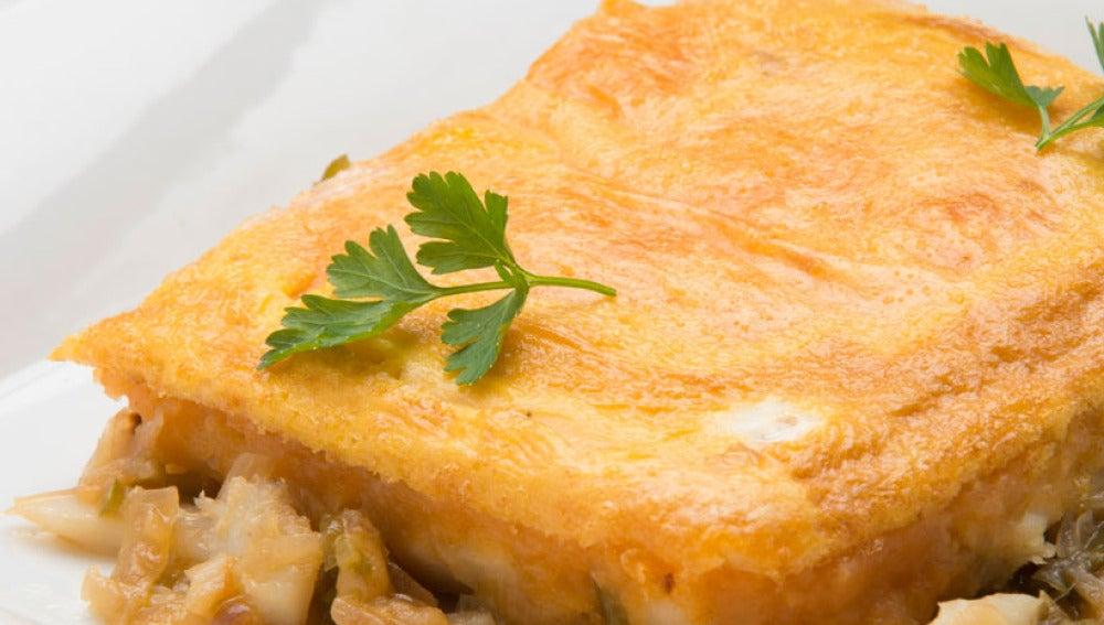 Pastel de bacalao y patatas