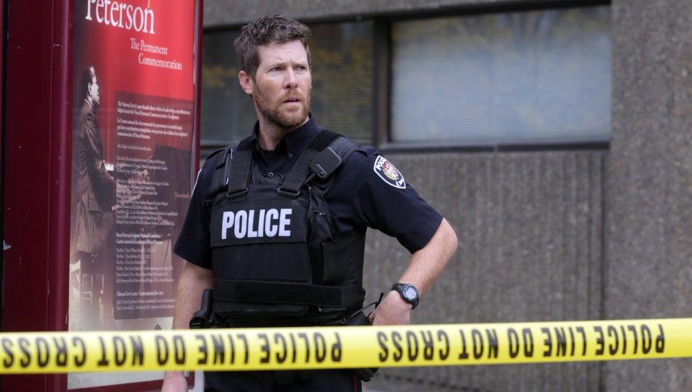 Policía en las calles de Ottawa