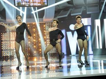 David Bustamante, Arturo Valls y Manel Fuentes a lo Beyoncé