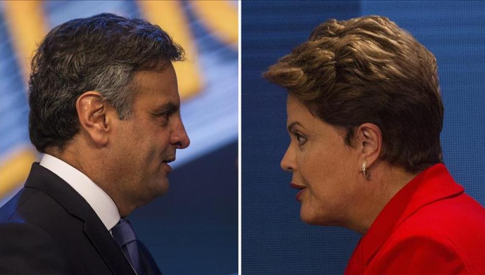 Rousseff y Neves cierran la campaña más impredecible de las últimas décadas