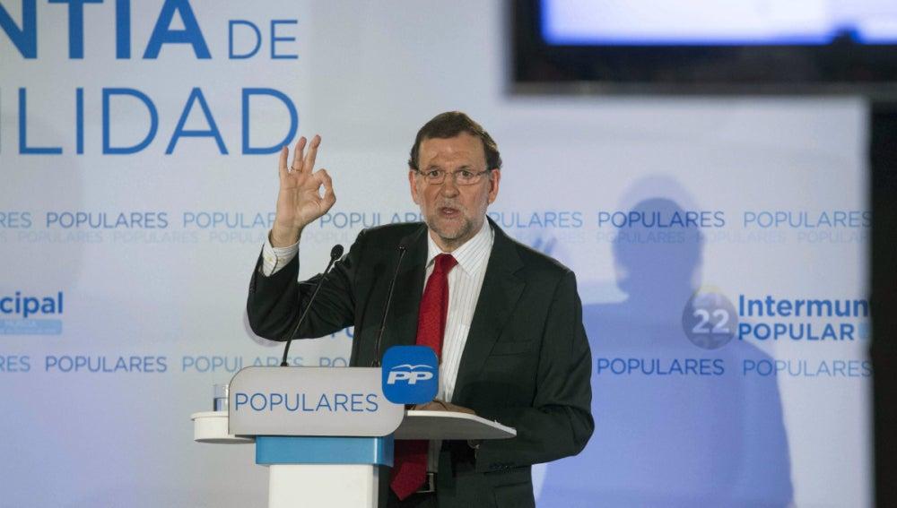 Rajoy, en un discurso