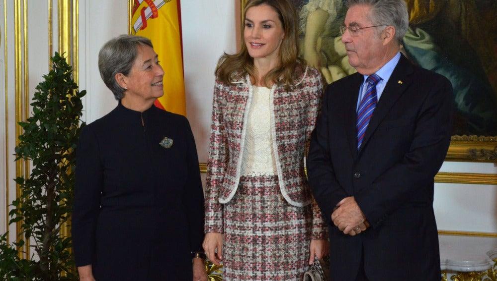 Doña Letizia durante el acto en Viena