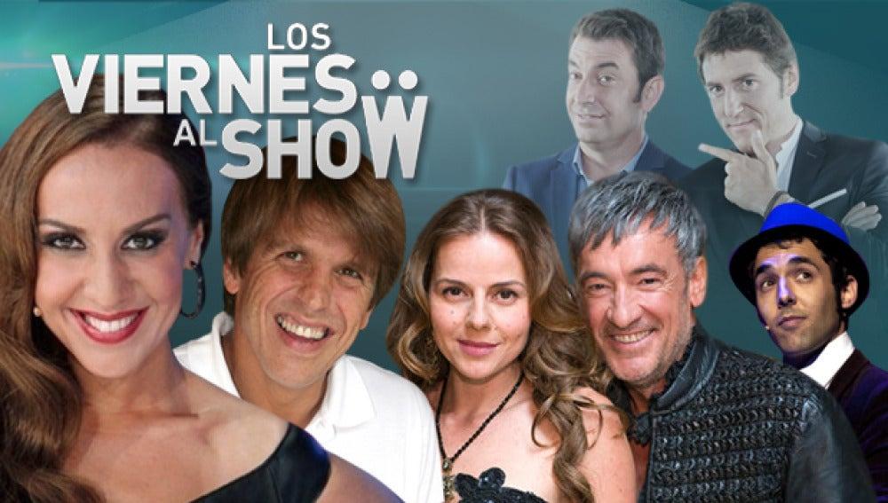 Francis Lorenzo y Miryam Gallego, Mónica Naranjo y Manuel Díaz 'El Cordobés' en 'Los Viernes al show'