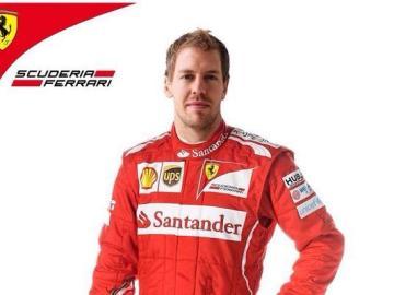 Montaje de Sebastian Vettel con Ferrari