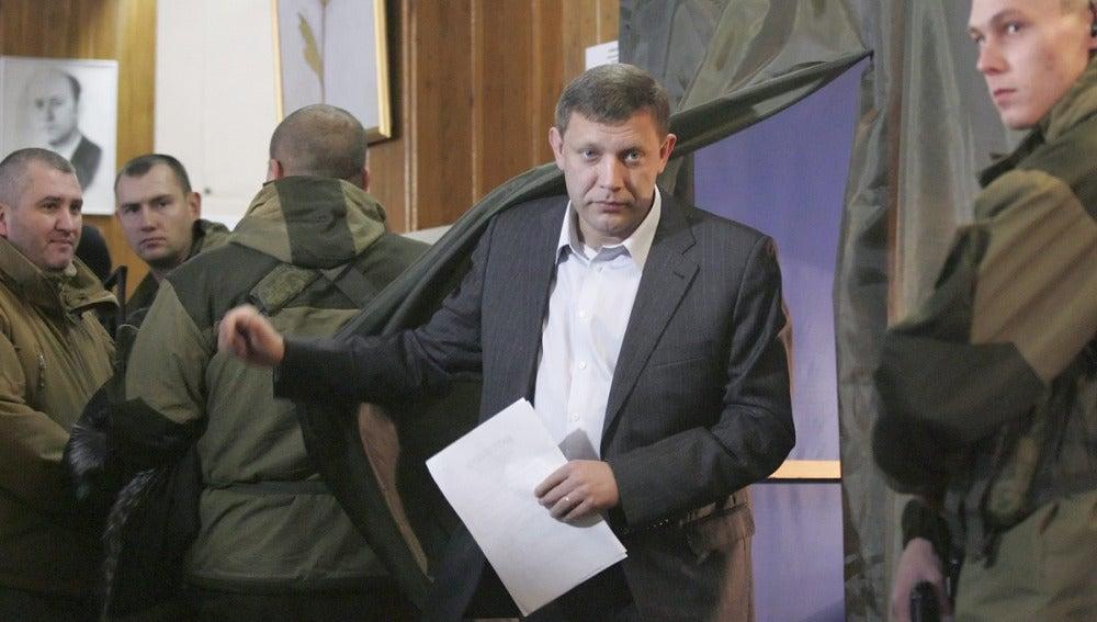 Alexander Zakharchenko,actual primer ministro de la autoproclamada República Popular de Donetsk