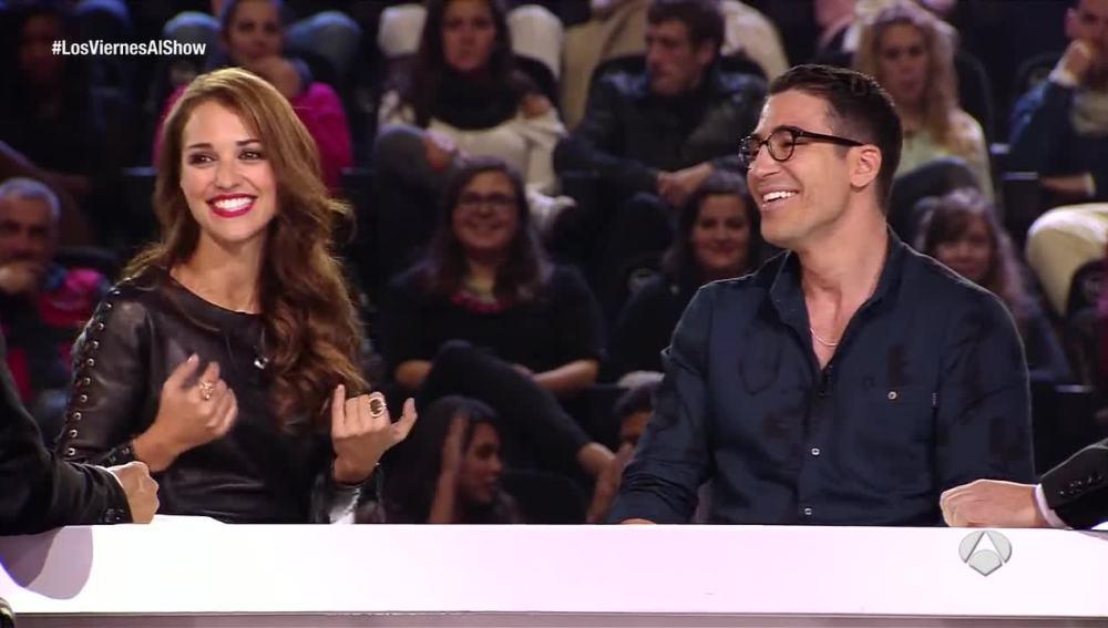 Paula Echevarría y Miguel Ángel Silvestre en Los viernes al show