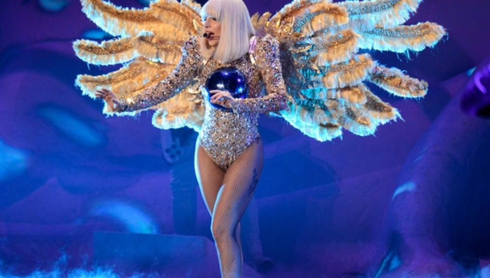 Lady Gaga durante el concierto