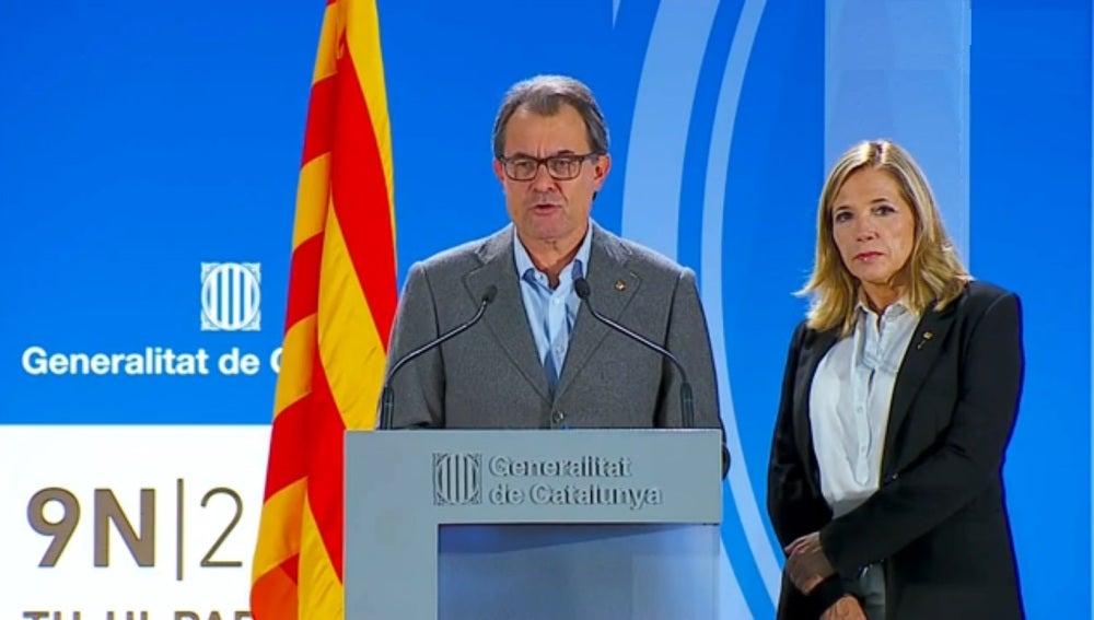 Artur Mas, en la comparecencia