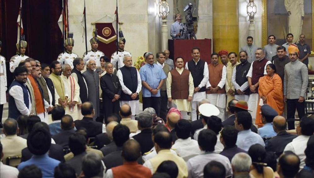Ceremonia de juramento de Gobierno en India