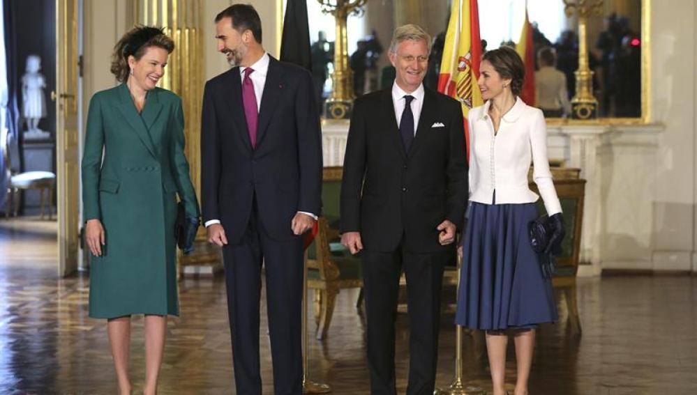 Los Reyes de España, Felipe y Letizia, junto a los Reyes de Bélgica, Felipe y Matilde