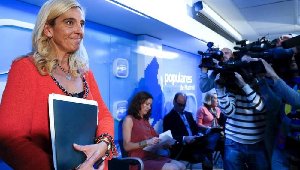 Mariola Vargas en la sede del PP