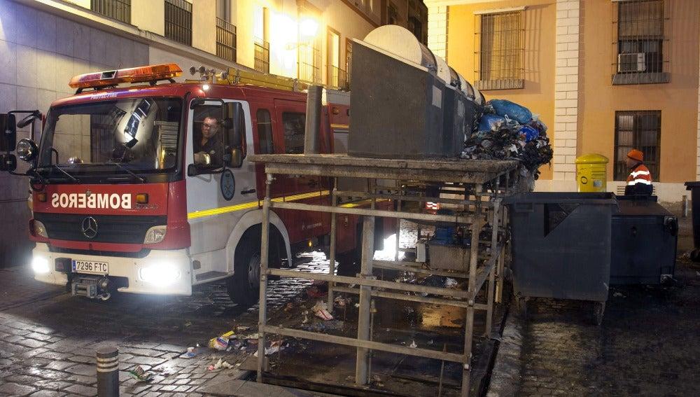 Un coche de bomberos en Sevilla