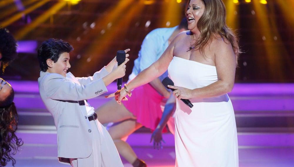 María del Monte y Samuel imitan a Jennifer López y Marc Anthony en Tu cara me suena Mini