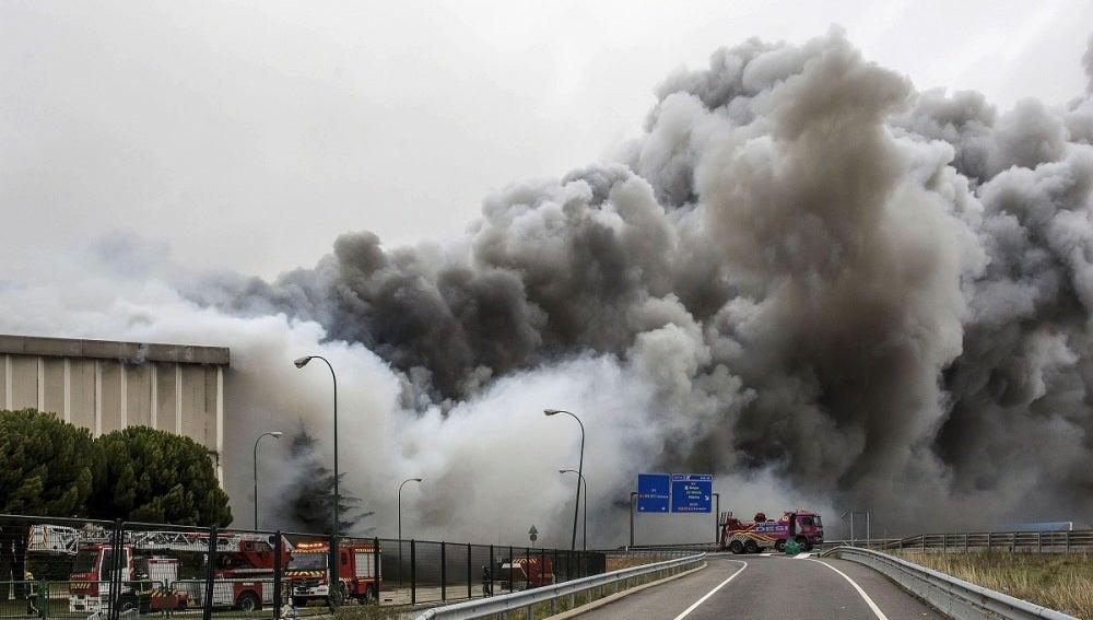 Espeluznante incendio en Burgos (16-11-2014)