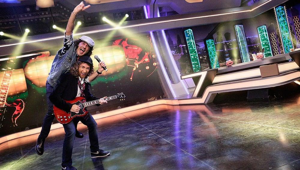 Sergio Dalma y Pablo Motos son AC/DC en El Hormiguero 3.0