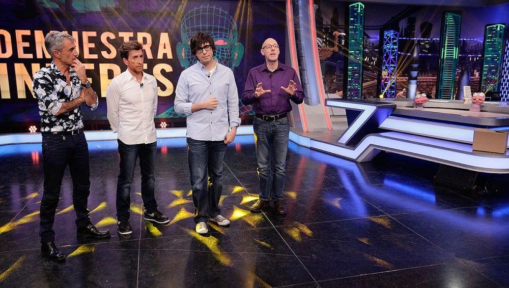 Sergio Dalma, Pablo Motos, Luis Piedrahita y Richard Wiseman en El Hormiguero 3.0