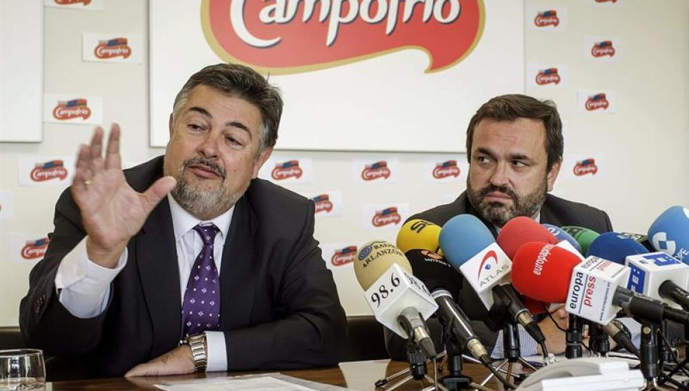 Los directores generales de Campofrío Food Group Fernando Valdés (i) y de Campofrío España Ignacio González (d).