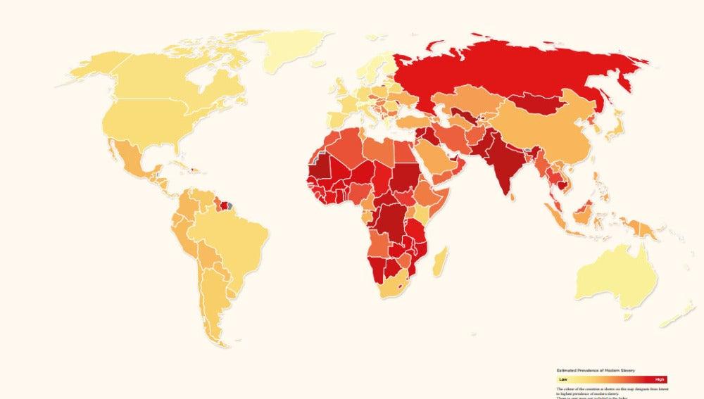 Esclavitud en el mundo