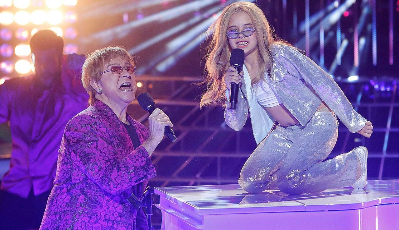 Julia y Santiago Segura imitan a Anastacia y Elton John en Tu cara me suena Mini
