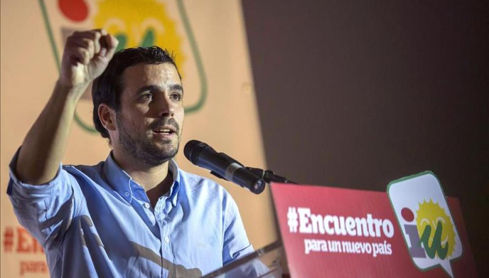 Alberto Garzón, candidato a las primarias de IU