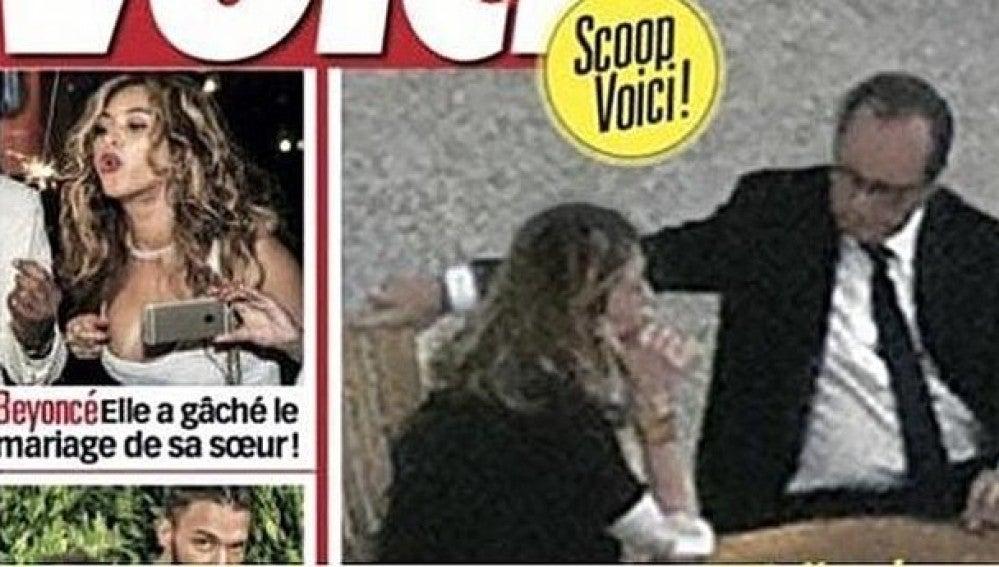 Hollande y Gayet, juntos en El Elíseo