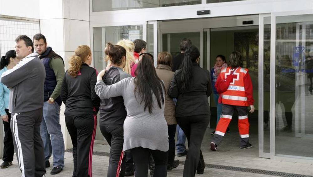 Familiares de las niñas atropelladas en Fuensalida