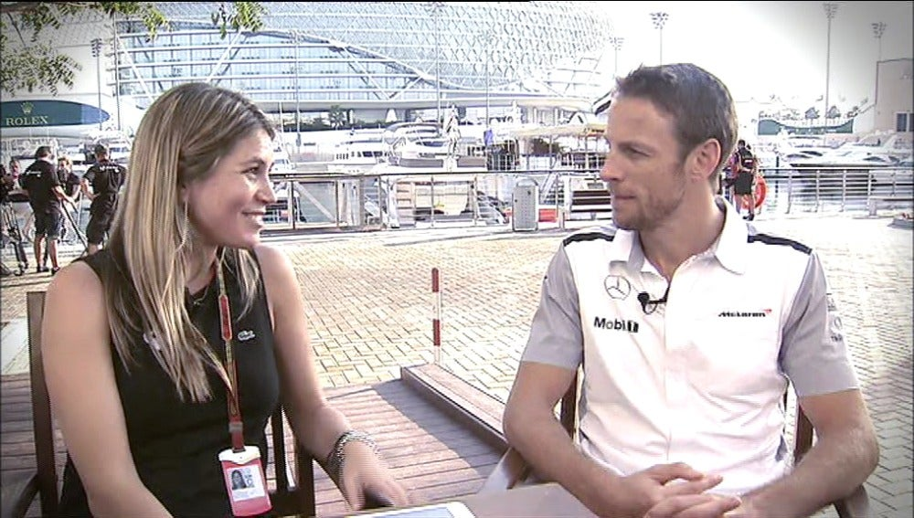 """Button: """"Por supuesto que me   gustaría compartir equipo con   Alonso"""""""