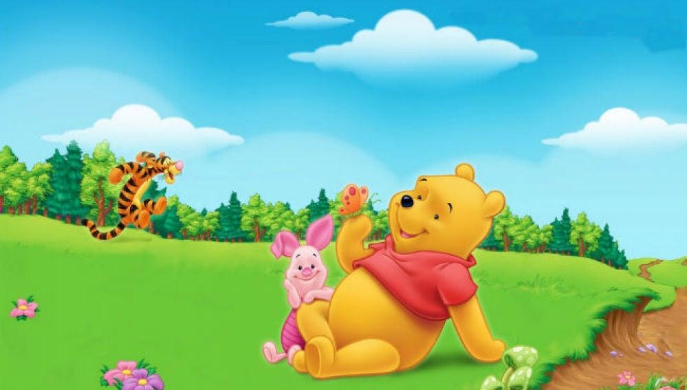 Imagen del osito Winnie the Pohh junto a otros personajes de la factoría Disney.