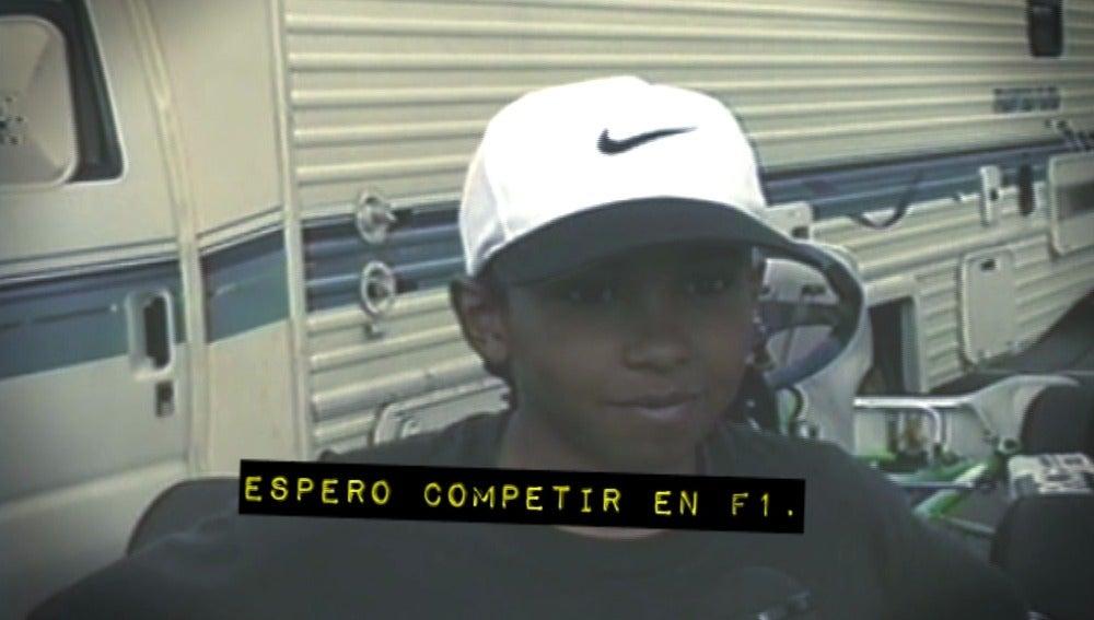 """Hamilton, con once años: """"Espero competir en la Fórmula 1"""""""