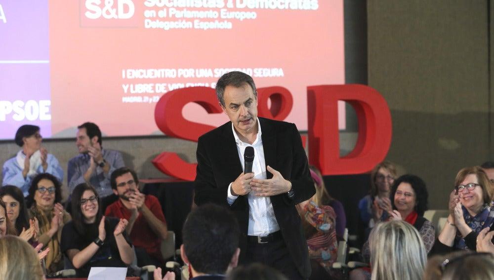 José Luis Rodríguez Zapatero, en un acto por el décimo aniversario de la Ley contra la Violencia de Género