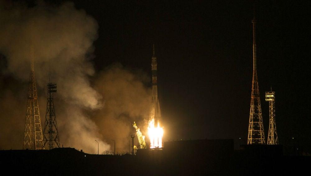 Momento del despegue de la Soyuz TMA-15M