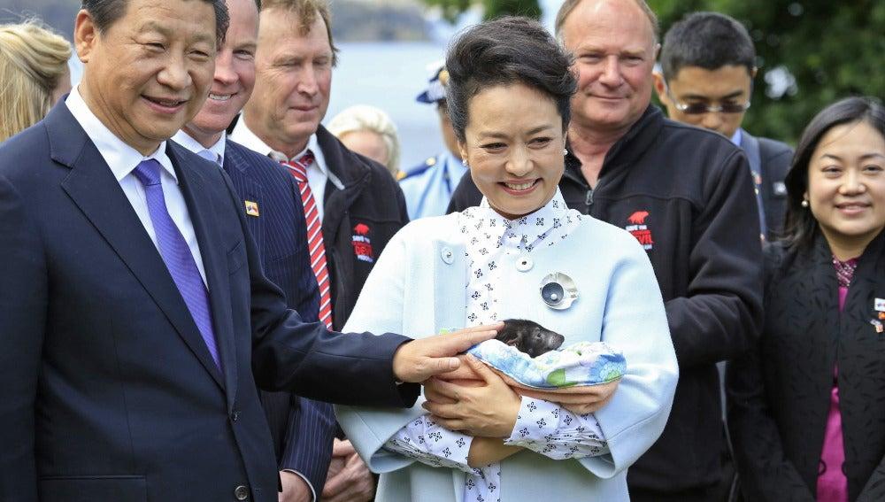 Presidente chino y su mujer