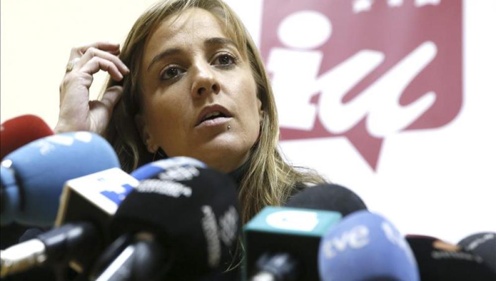 Tania Sánchez, diputada de IU en la Asamblea de Madrid