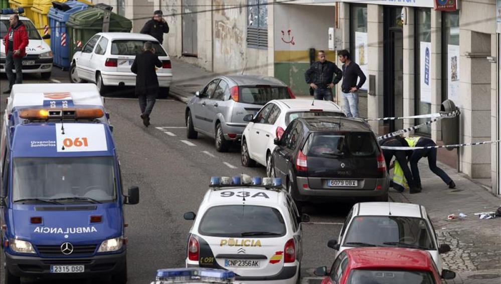 El agente herido en el tiroteo de Vigo continúa grave