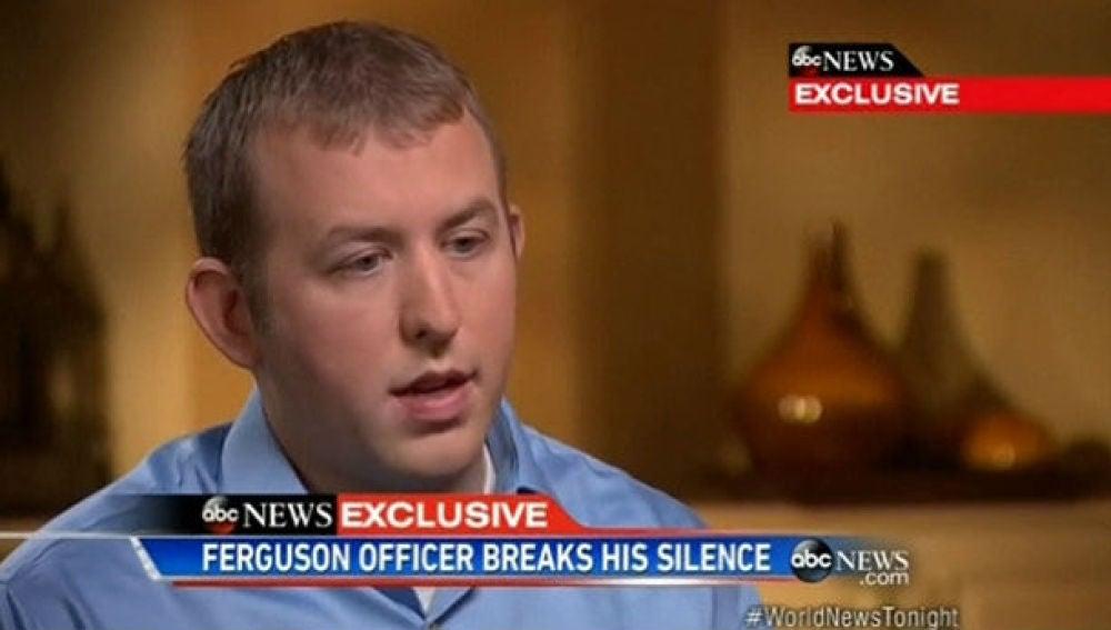 Darren Wilson, en una entrevista en la ABC