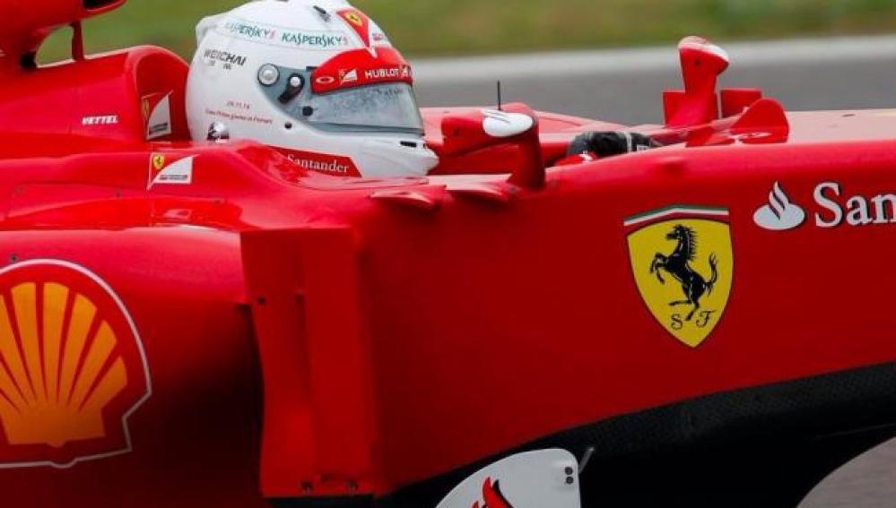 Vettel, en el Ferrari