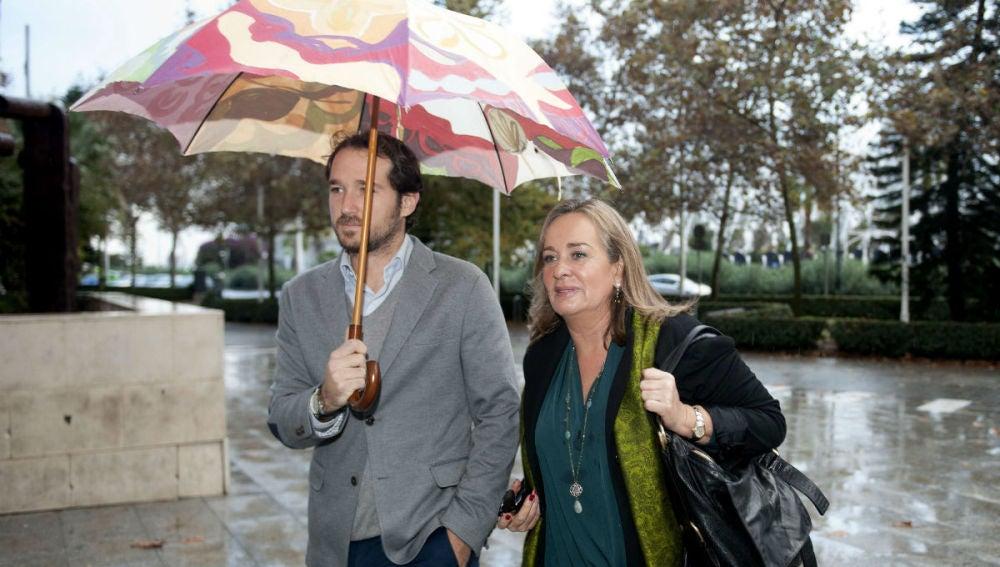 Belén Juste, en su llegada a la Ciudad de la Justicia de Valencia