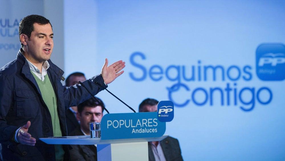 Juanma Moreno, presidente del PP en Andalucía