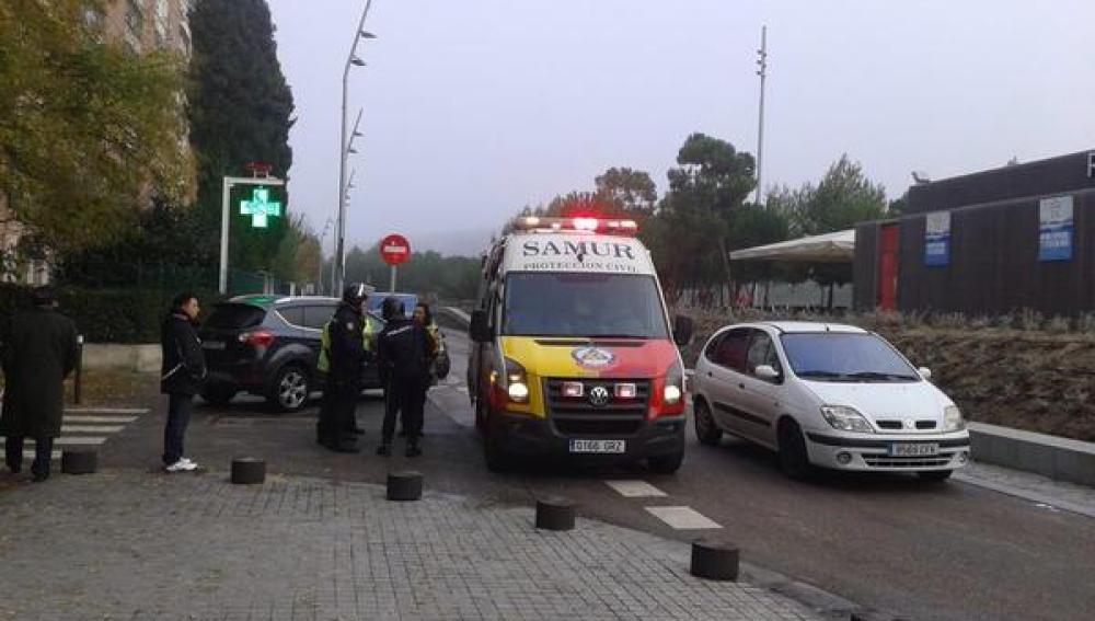 Ambulancia del Samur en el Atlético-Deportivo