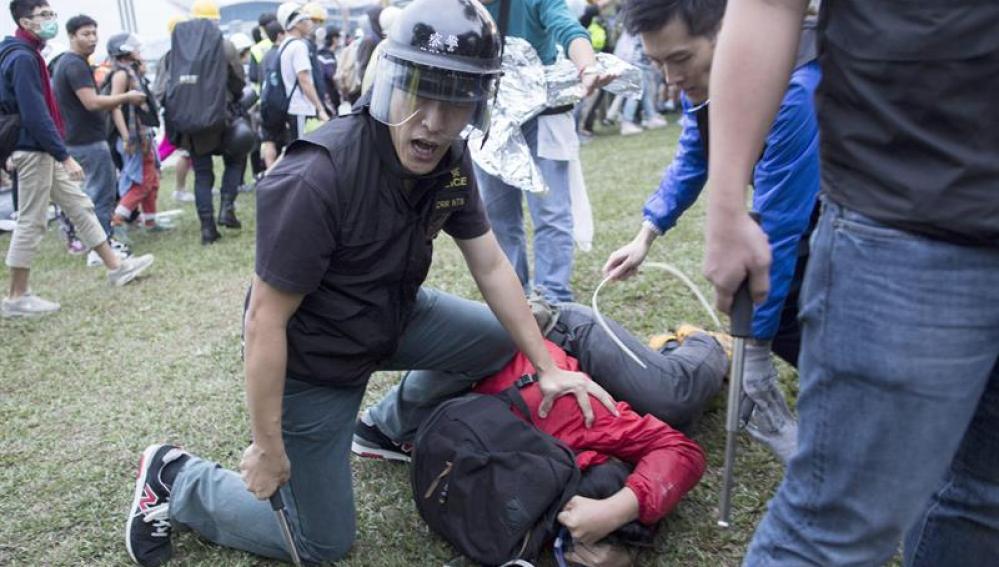 Represión a las protestas en Hong Kong.