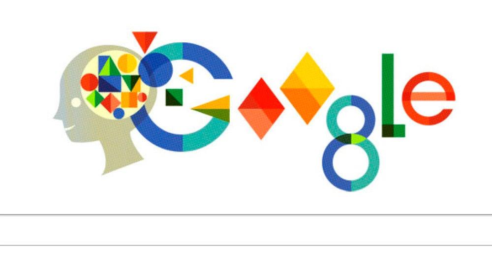 El doodle de Google dedicado a Anna Freud.