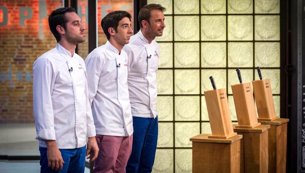 Los tres semi finalistas