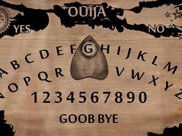 Un tablero clásico de Ouija