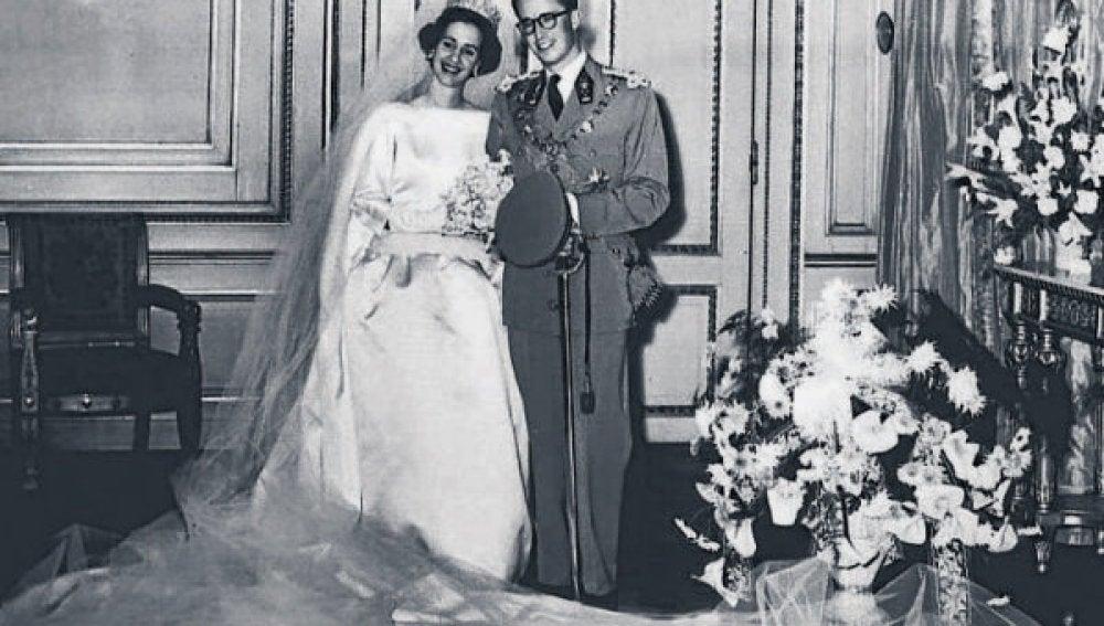 La boda de Fabiola y Balduino I en 1960