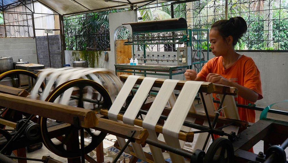Una trabajadora en Indonesia