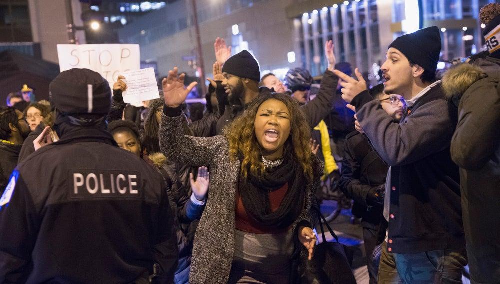 Manifestación en EEUU contra los abusos policiales