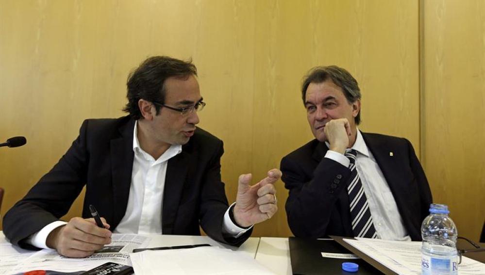 Josep Rull, con Artur Mas